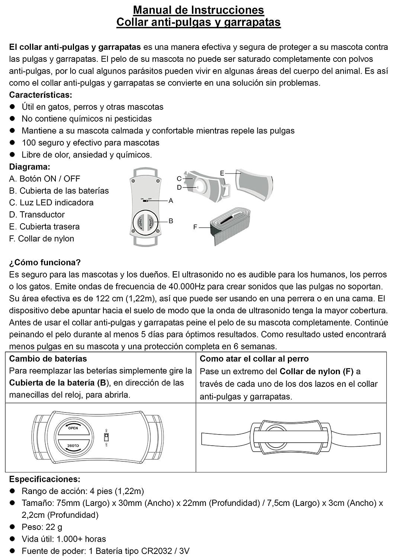 Amazon.com : (3 Pack) Flea and Tick Collar. Ultrasonic flea and tick control collar for dogs and cats. Flea Free collar. : Pet Supplies