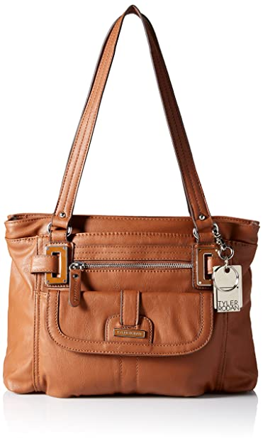 1769fdf93360 Image Unavailable. Image not available for. Color  Tyler Rodan Womens  Berlin Faux Leather Triple Entry Satchel Handbag ...