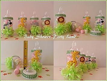Regalos Para Juegos En Baby Shower.Amazon Com 12 Botellas Rellenable Baby Shower Regalos