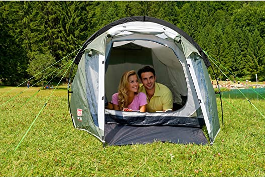 Coleman Cortes 2 Man Tunnel Tent Blue Weekend Tent Fast Pitch 2 Person