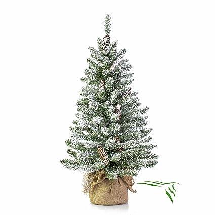 Albero Di Natale 50 Cm.Mini Albero Di Natale Vienna In Sacco Di Iuta Innevato 90 Cm O 50 Cm Abete Artificiale Albero Tessile Artplants