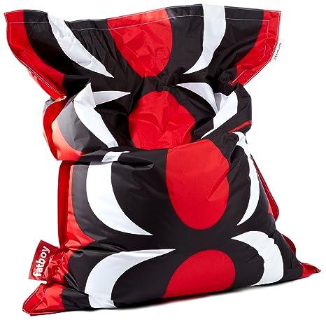 Amazon.com: Famoso puf de Marimekko grande puf, Unikko rojo ...