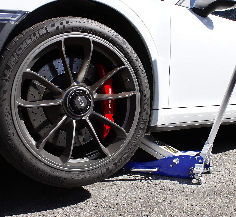 VViViD 3300 Pound Automotive Heavy Duty Aluminum Steel Hydraulic Floor Low-Profile Race Jack