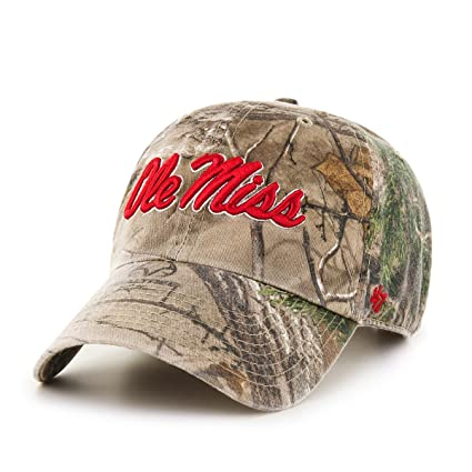 huge selection of cbc26 de047 Image Unavailable. Image not available for. Color   47 NCAA Mississippi Old  Miss Rebels Realtree Clean Up Adjustable Hat ...