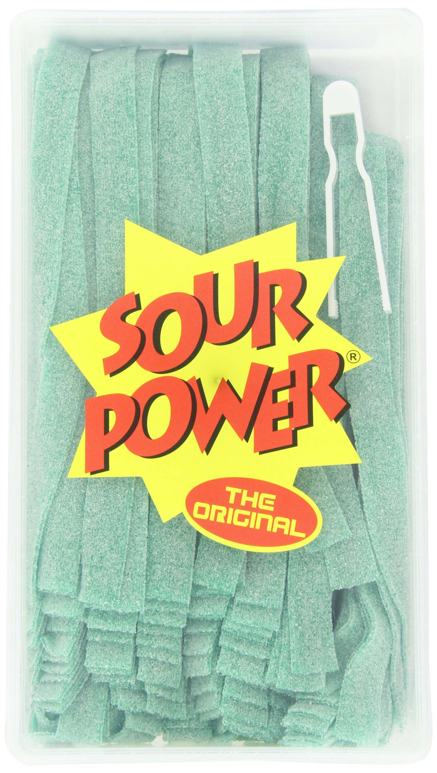 Sour Power Belts, Green Apple (150-Count Belts), 42.3-Ounce Tub by Sour Power