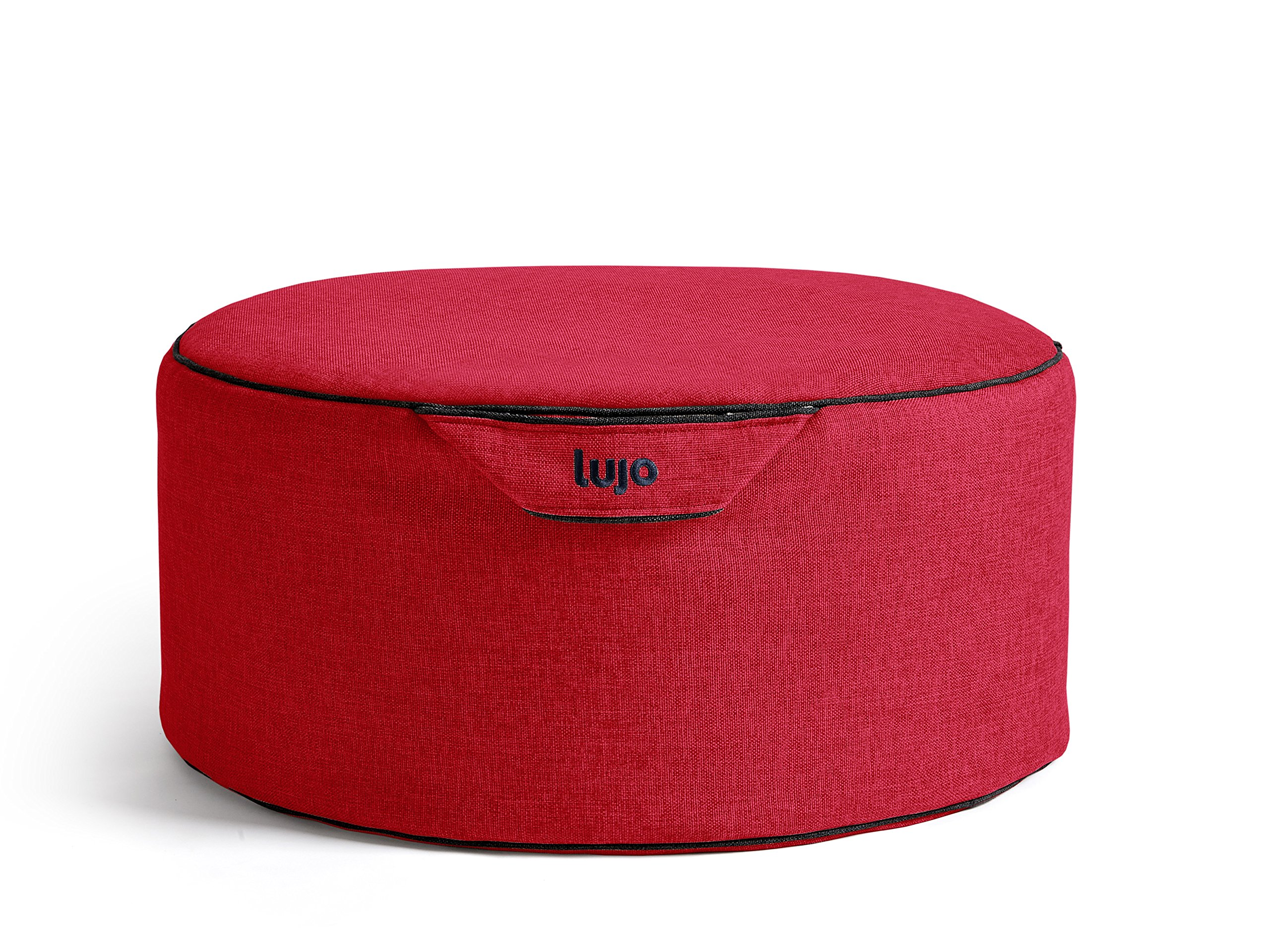 Indoor Bean Bag Pouf - Tulum Collection (Filled, Flame)