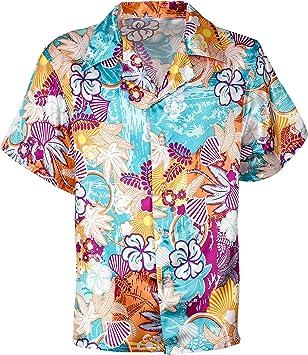 WIDMANN SRL Camisa Hawaiana Hombre y Elementos de Ropa para Adultos, Multicolor, wdm48293: Amazon.es: Juguetes y juegos