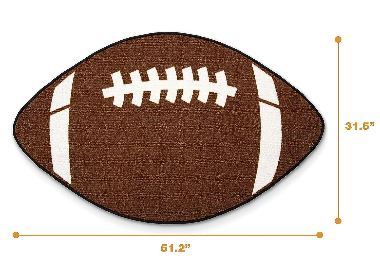 Delta Children Non-Slip Area Rug for Boys Football