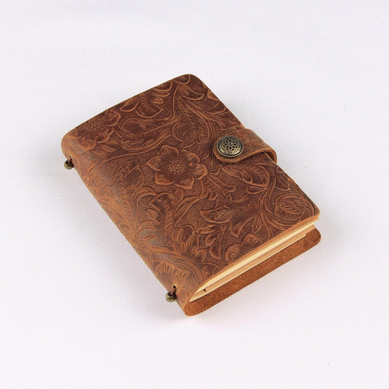 GN& LM Notebook, fatta a mano in cuoio e antico libro di viaggio,incisione marrone GN&LAOMU