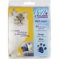 Soft Claws Feline Cat Nail Caps Take-Home Kit, Large, Blue