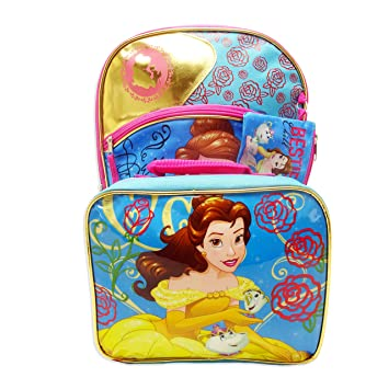 Amazon.com | 3-Piece Disney Beauty & the Beast Belle Backpack Standard | Kids Backpacks