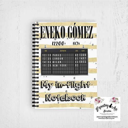 In-flight notebook. Agenda azafatode vuelo. Crew notebook ...