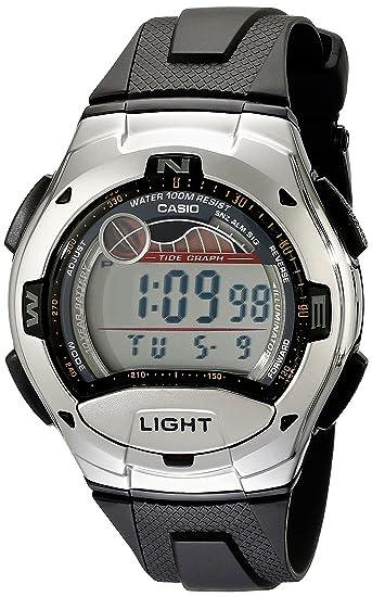 Casio W753-1AV - Reloj de cuarzo para hombre, con correa de resina, color negro: Casio: Amazon.es: Relojes