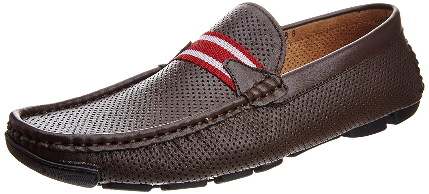 dca5d9fd073 Pavers England Men s Brown Leather Loafers and Mocassins - 11 UK 45 EU  Buy  Online at Low Prices in India - Amazon.in
