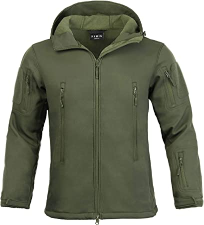 ea419c2a9793 Amazon.com   Tactical Jacket for Men Water Repellent Windproof Coat Big  Tall Mens Fleece Lined Softshell Jackets   Sports   Outdoors