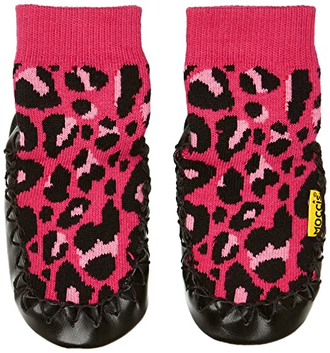 Moccis Express Yourself - Zapatos para Niños, Color Pink/Black, Talla 6-12 Monate