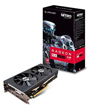 Sapphire Radeon Nitro+ Rx 480 4GB GDDR5 Dual HDMI / DVI-D / Dual DP OC w/  Backplate (UEFI) PCI-E Graphics Card Graphics Cards 11260-02-20G