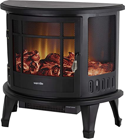 Warmlite Bath Log Effect Electric Stove Fire - Highly-Convenient Fireplace
