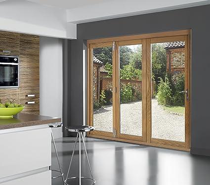 Classic 2090 mm (213,36 cm) Bi-plegable puertas con marco de madera de roble: Amazon.es: Bricolaje y herramientas