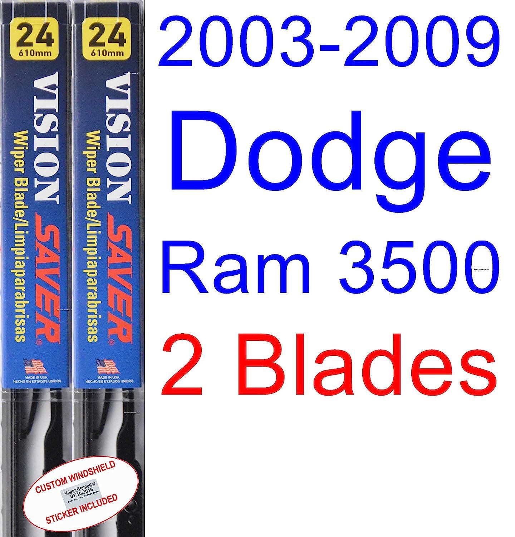 Amazon.com: 2003-2009 Dodge Ram 3500 Wiper Blade (Driver) (Saver Automotive Products-Vision Saver) (2004,2005,2006,2007,2008): Automotive