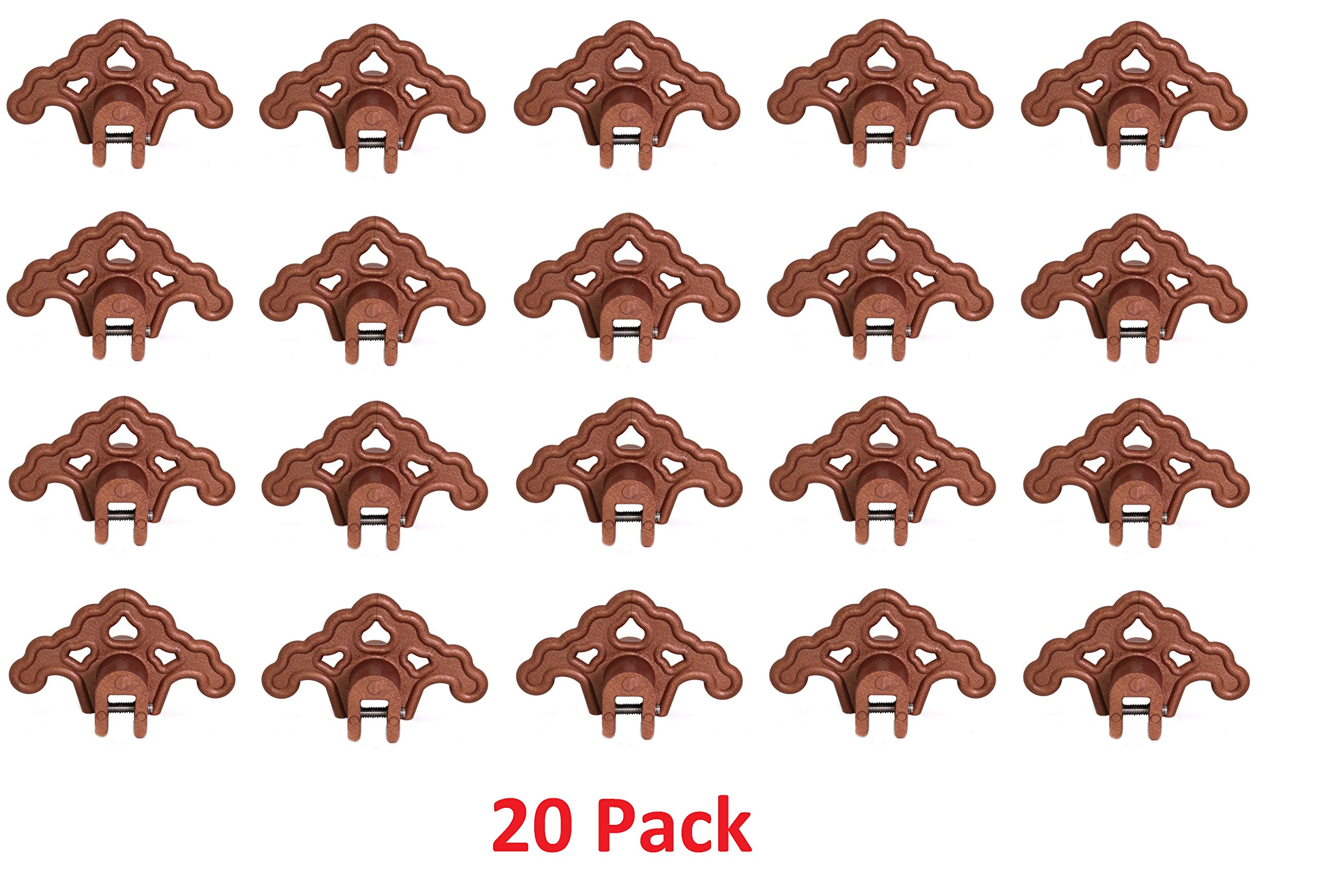 (20) PLASTIC BRONZE Roof Ice Guard Snow Guard Snow Stops for Standing Seam Metal Roofing by JSP Manufacturing
