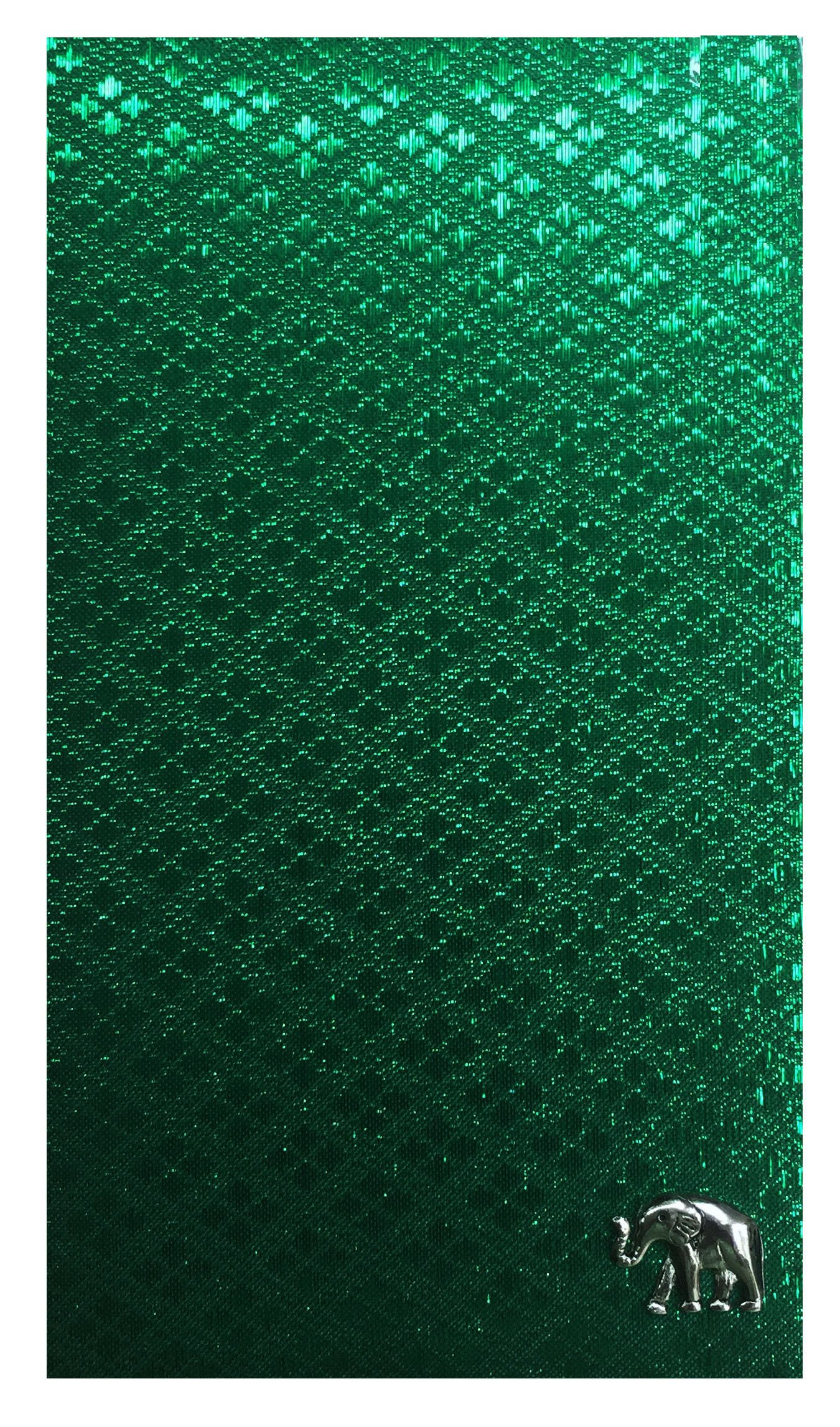 Green Thai Fabric Waitstaff Organizer Guest Check Presenter, Check Book Holder for Restaurant, Guest Checkbook Cover, Server Book for Waitress with Money Pocket, Waiters Book U by Kathy