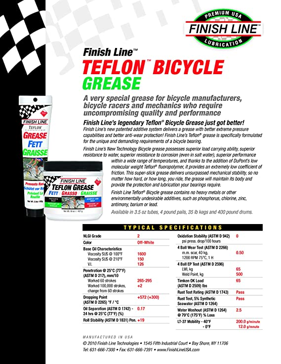 2e86863b80c Amazon.com   Finish Line Premium Grease made with Teflon Fluoropolymer
