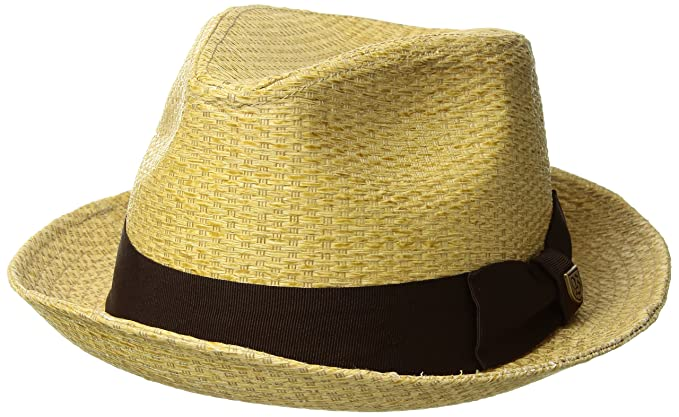 0b6f0269851 Brixton Men s Castor Straw Fedora Hat  Amazon.ca  Clothing   Accessories