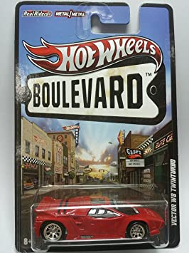 Hot Wheels Boulevard Ahead Of Its Time Vector W8 Twinturbo Red by Hot Wheels