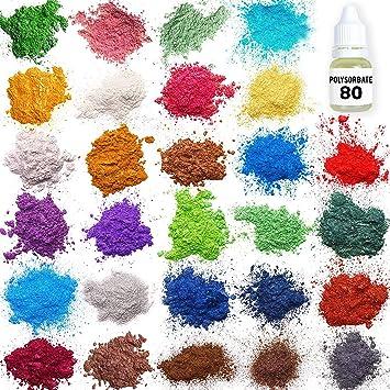 Buy Mica Powder - Soap Making Kit - Soap Making dye - 28 ...