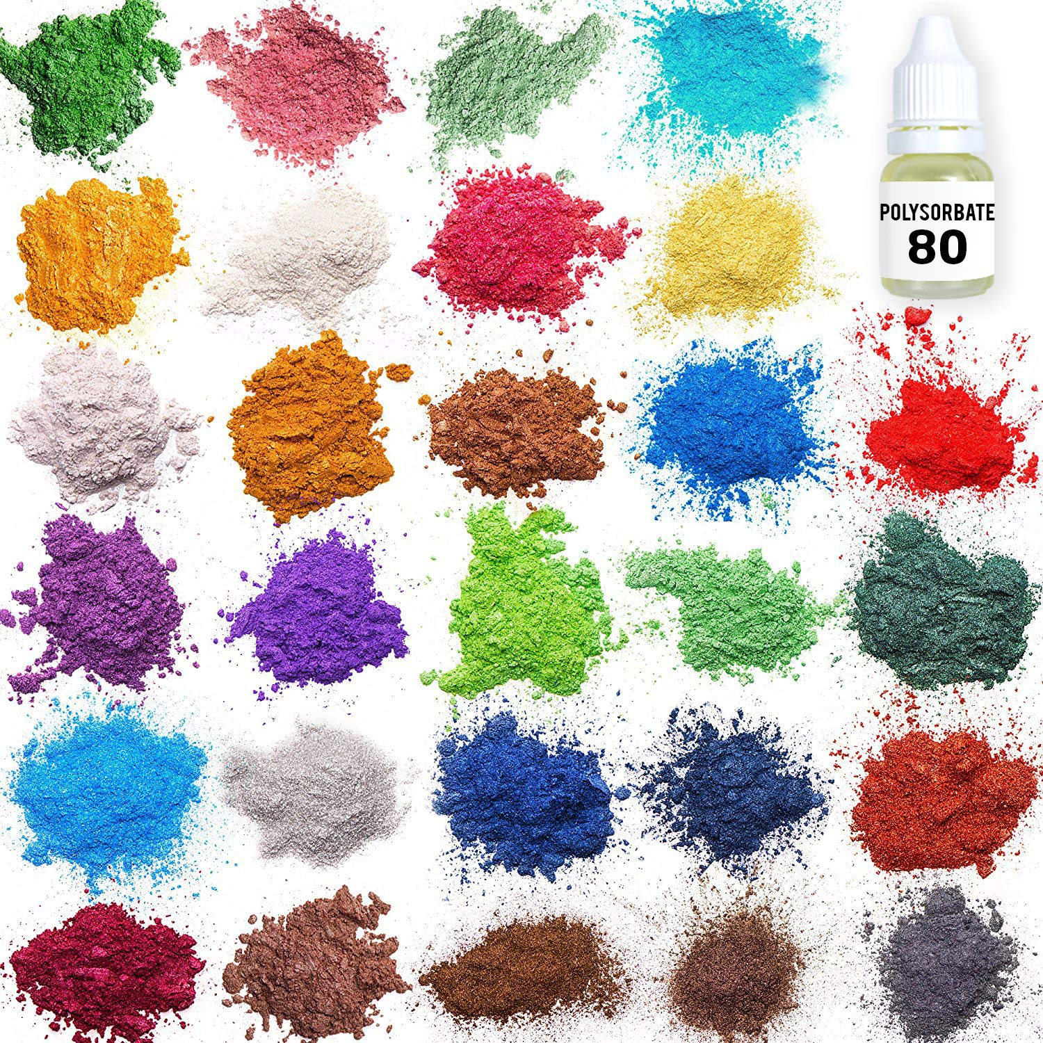 Mica Powder – Soap Making Kit – Soap Making dye – 28 Coloring - Powdered Pigments Set – Hand Soap Making Supplies - Resin Dye – Organic Mica Powder - Bath Bomb Dye Colorant by Mica Powder