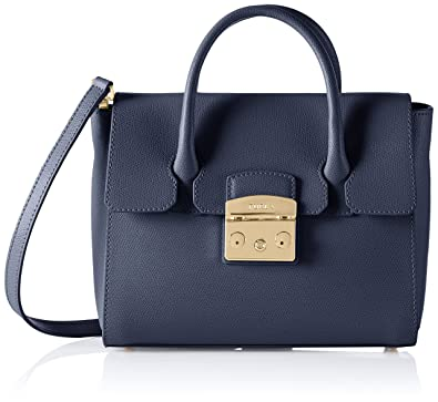 Shoulder Bag for Women On Sale, Dusty Blue, Leather, 2017, one size Furla