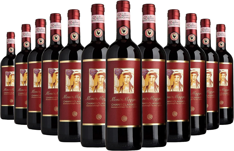 Chianti Classico Di Montemaggio Organic Fine Dry Red Wine From Italy Docg Tuscany Gallo Nero Sangiovese Merlot Fattoria Di Montemaggio 0 75l 12 Bottles Amazon Co Uk Beer Wine Spirits