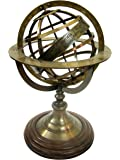 Brass Nautical Brass Armillary Sphere in Antique Finish - 8 inches