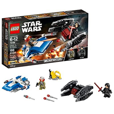 LEGO Star Wars: The Last Jedi A-Wing vs. TIE Silencer Microfighters 75196 Building Kit (188 Pieces): Toys & Games