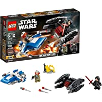 LEGO Star Wars: The Last Jedi A-Wing vs. TIE Silencer Microfighters 75196 Building Kit (188 Piece)