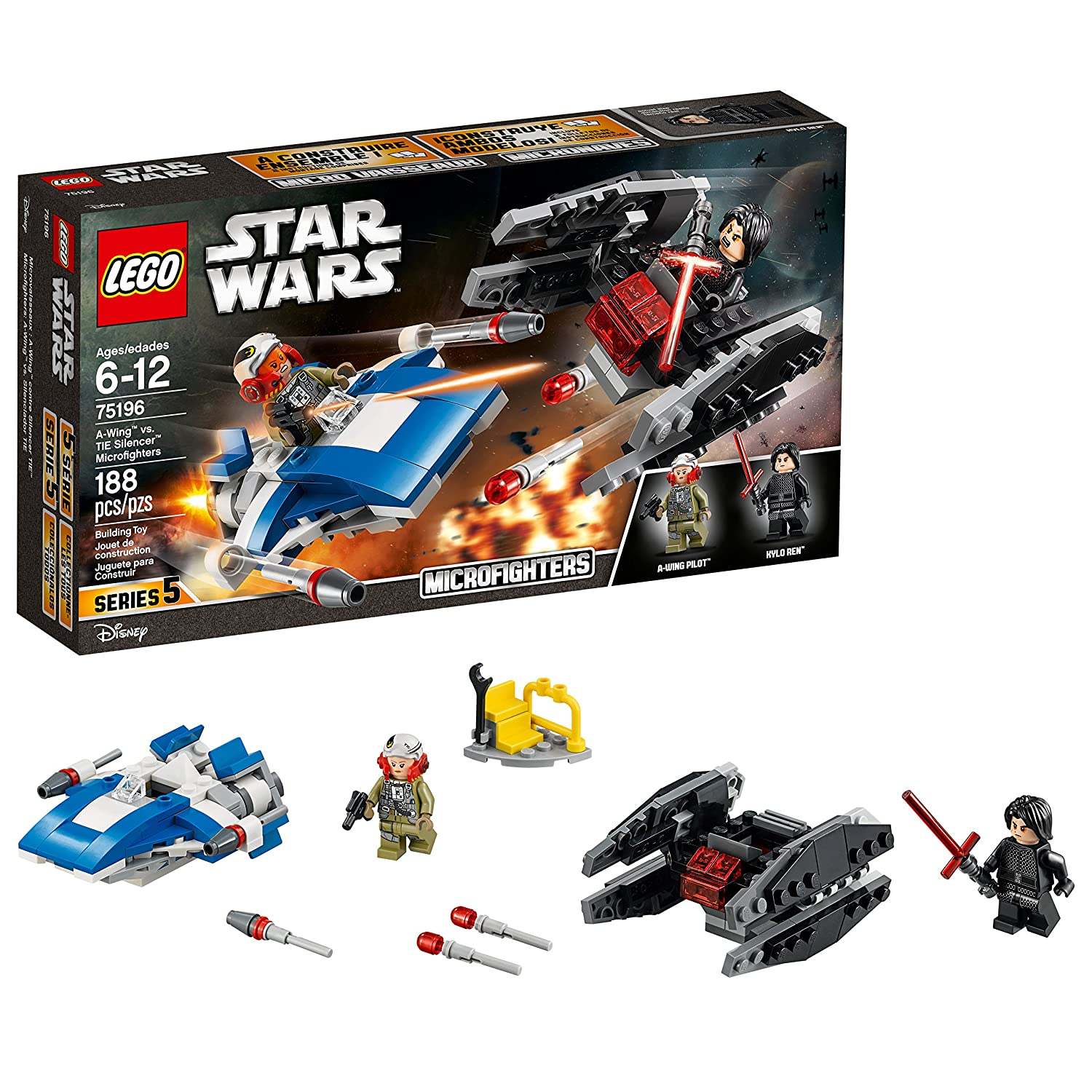 20% OFF LEGO Star Wars A-Wing vs. TIE Silencer Microfighters 75196