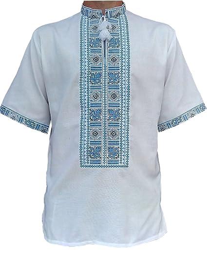 Vyshyvanka for Men Embroidered Shirt With Ethnic Ukrainian Ornaments Sorochka Vyshyvana - LIMITED TIME OFFER CtCPtpJ