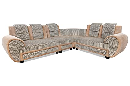 the latest 233f3 b19e3 Rajgarhwala Furnitures L Shape Sofa Set for Living Room 7 Seater Sofa Sets  for Home