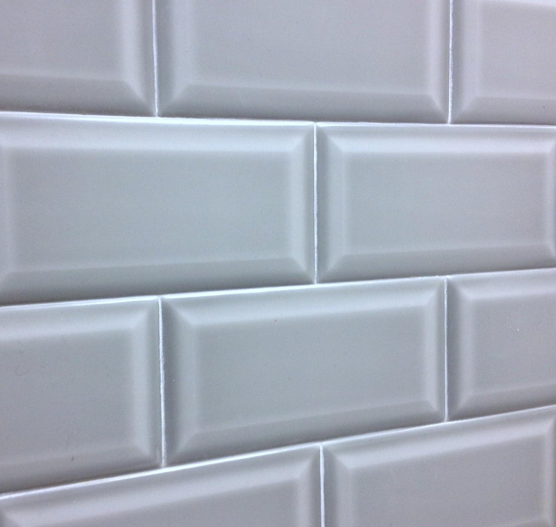 Amazon.com: 3x6 Silver Gray Beveled Matte Ceramic Tile: Home Improvement