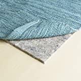 """RUGPADUSA, 9'x12', 3/8"""" Thick, Basics 100% Felt Rug Pad, Available in Multiple Thicknesses, Adds Cushion and Floor Protection Under Rugs, Safe for all Floors and Finishes"""