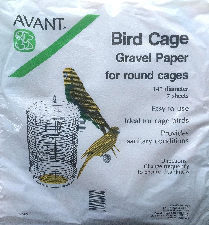 Bird Cage Round Gravel Paper 14 inch diameter Avant