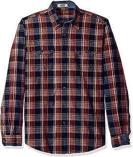 Tailor Vintage Mens Port Herringbone Long Sleeve Doubleface Reversible Shirt