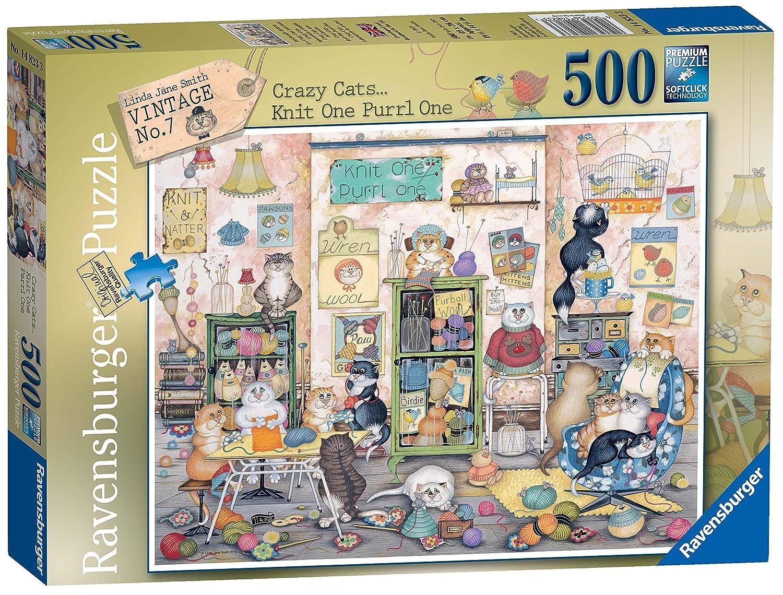 Vintage Bus 500pc Jigsaw Puzzle Ravensburger Crazy Cats
