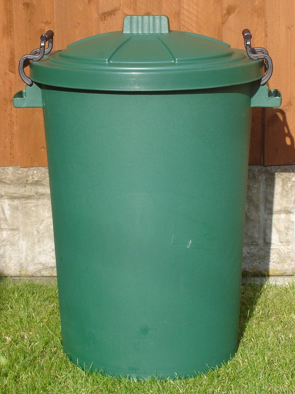 80/85 Litre Green Dustbin/Bin/Refuse Bin With Lockable Handles (made ...