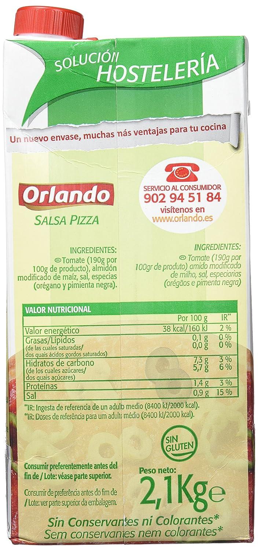 Orlando - Salsa pizza - Sin conservantes - 2.1 l: Amazon.es: Alimentación y bebidas