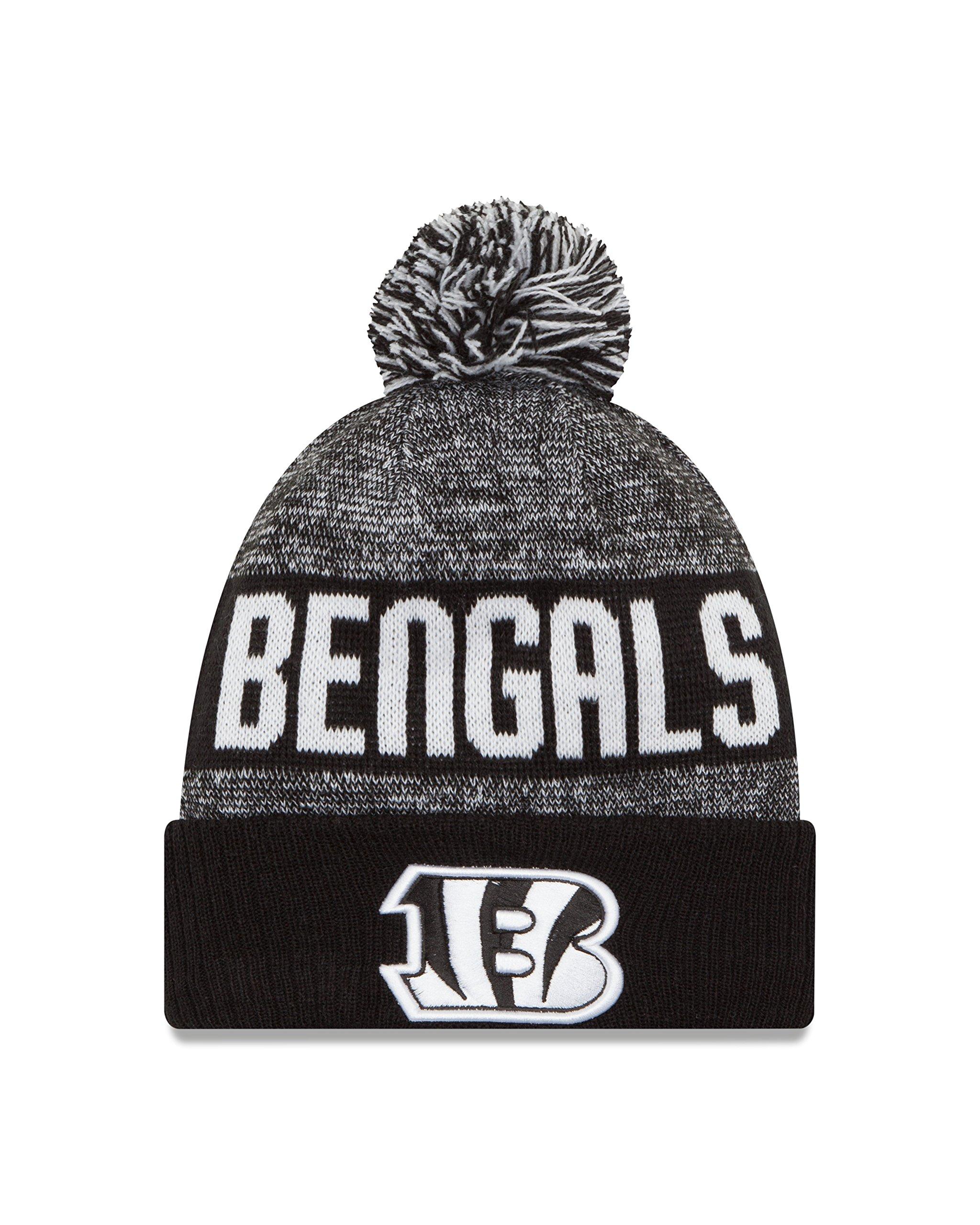 New Era NFL Cincinnati Bengals 2016 Sport Knit Beanie, One Size, Black/White