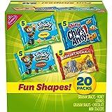 Nabisco Fun Shapes Variety Pack Barnum's Animal Crackers, Teddy Grahams and CHIPS AHOY! Mini, Halloween Treats, 20 - 1…