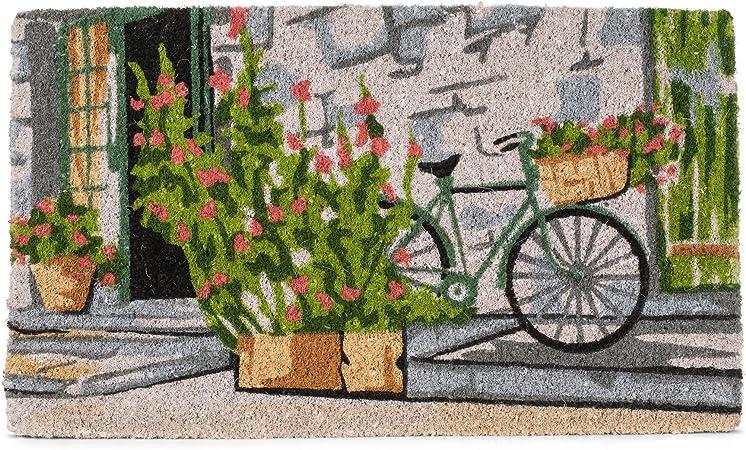 Abbott Collection Coir Bicycle on Stoop Doormat