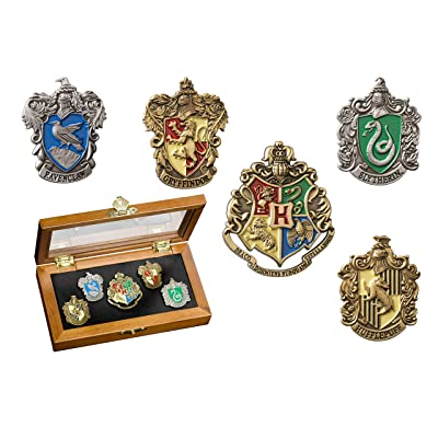 The Noble Collection Harry Potter Hogwarts House Crest Pins: Toys & Games